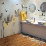 покраска стен в ванной комнате оформление