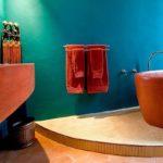 покраска стен в ванной комнате фото оформление