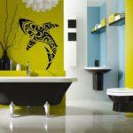 покраска стен в ванной комнате идеи фото
