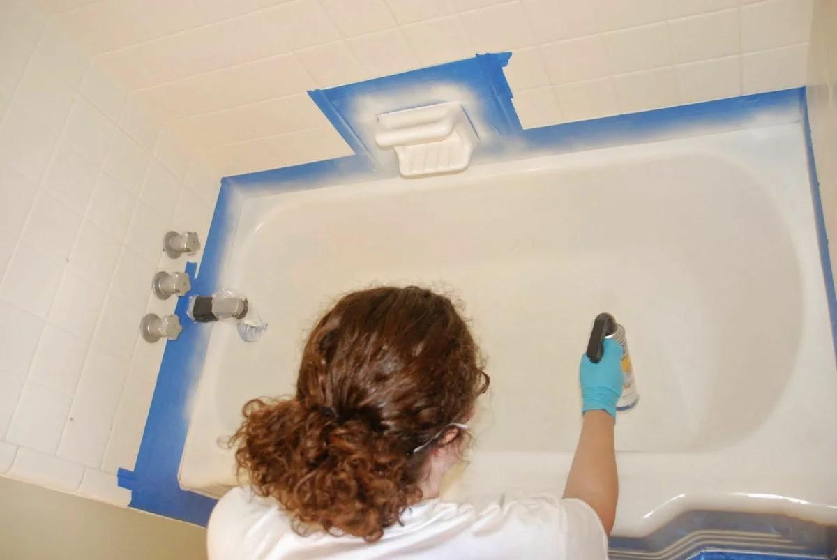 покраска ванны баллончиком
