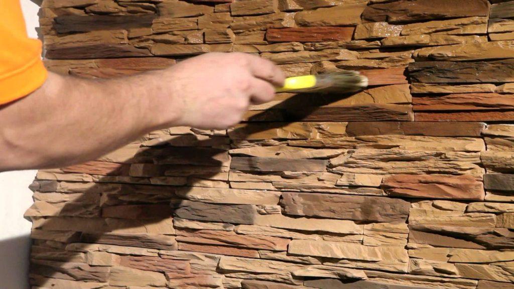 покрыть лаком декоративный камень