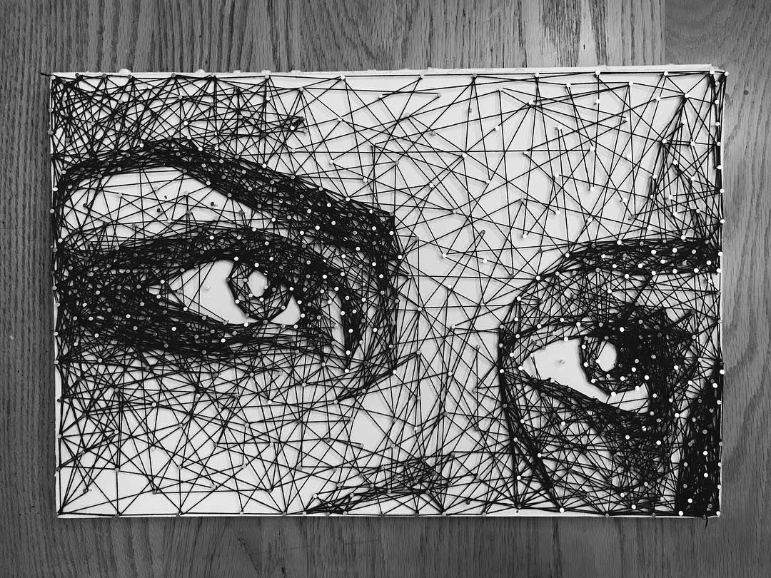 портрет стринг арт