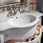 раковина с тумбой в ванную комнату декор идеи