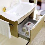 раковина с тумбой в ванную комнату интерьер