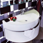 раковина с тумбой в ванную комнату оформление