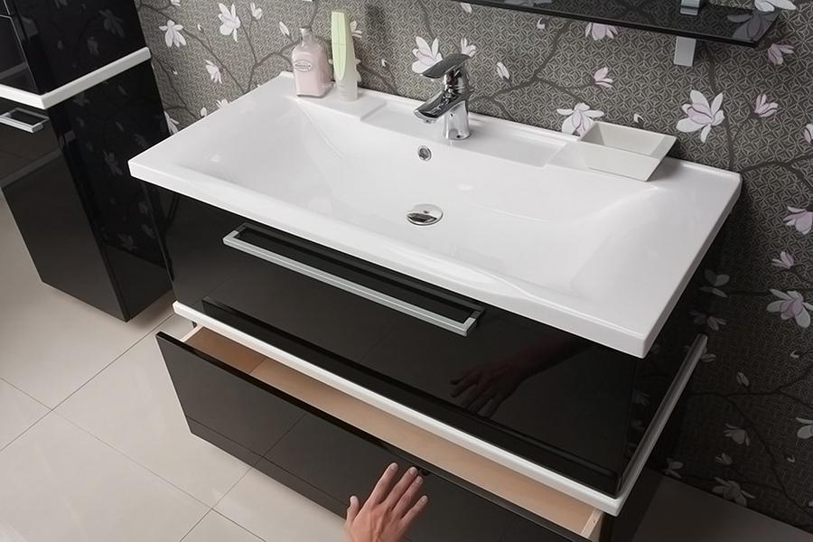 раковина с тумбой в ванную комнату фото