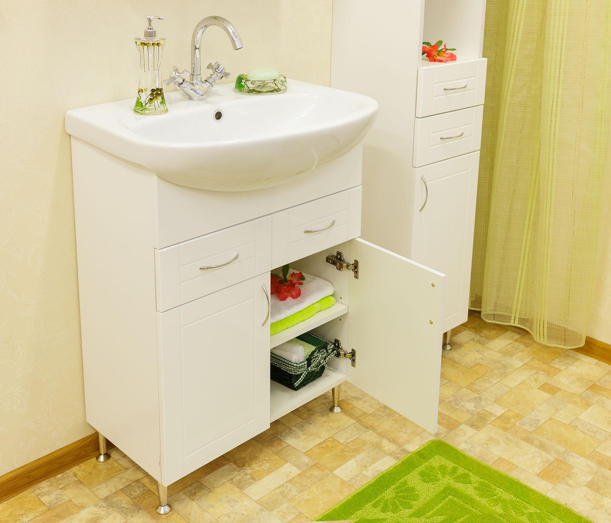 раковина с тумбой в ванную фото дизайн