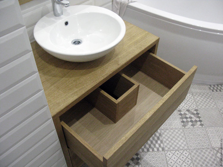 раковина с тумбой в ванную идеи дизайна
