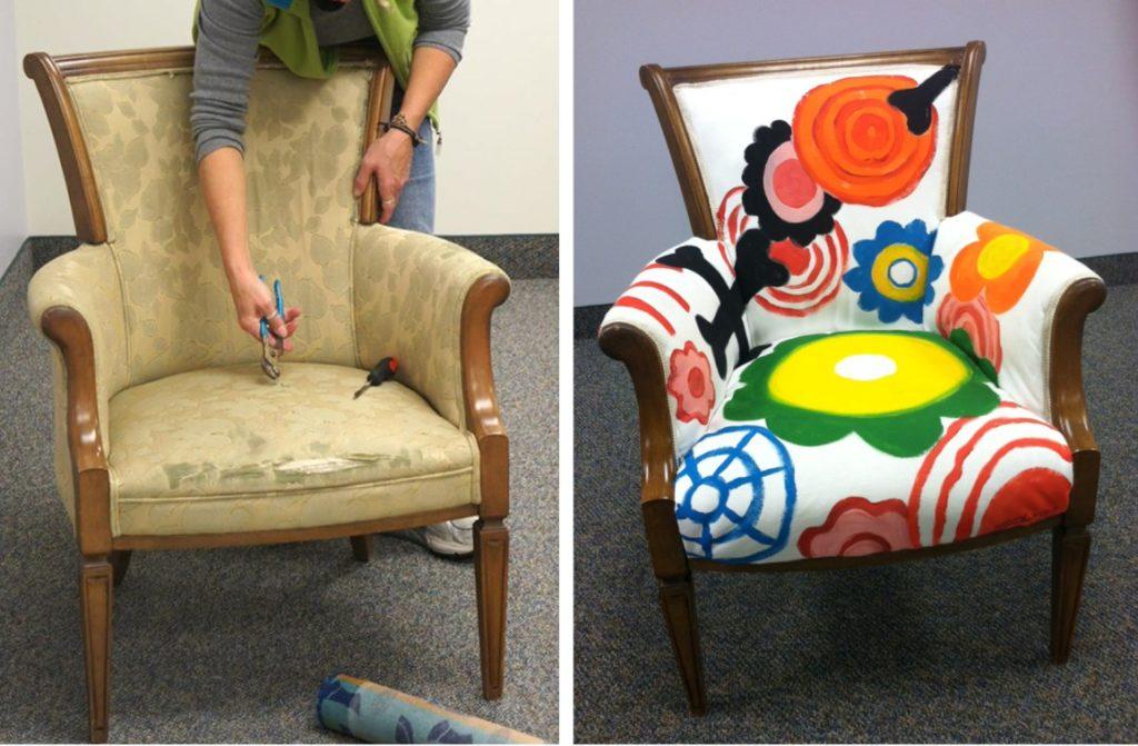 разрисовка кресла