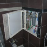 ревизионный люк в ванной декор