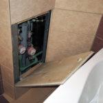 ревизионный люк в ванной оформление
