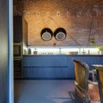 синий кухонный гарнитур декор