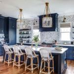 синий кухонный гарнитур фото декор