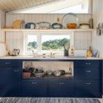 синий кухонный гарнитур варианты