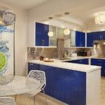 синий кухонный гарнитур фото вариантов