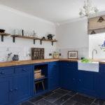 синий кухонный гарнитур идеи варианты