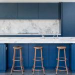 синий кухонный гарнитур фото видов