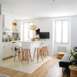 совмещение плитки и ламината на кухне идеи фото