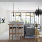 совмещение плитки и ламината на кухне идеи интерьера