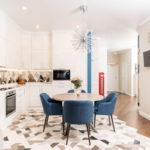 совмещение плитки и ламината на кухне фото декор