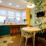 совмещение плитки и ламината на кухне фото идеи