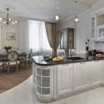 совмещение плитки и ламината на кухне фото варианты