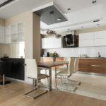 совмещение плитки и ламината на кухне идеи варианты