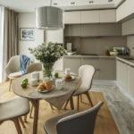 совмещение плитки и ламината на кухне варианты