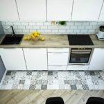 совмещение плитки и ламината на кухне варианты идеи
