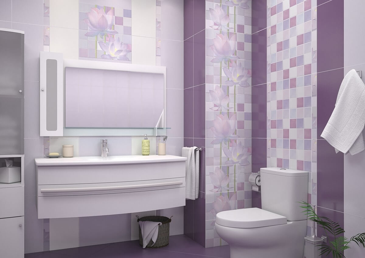 средняя плитка в ванной