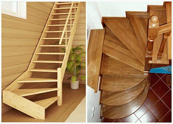 Лестница с забежными ступенями придумана специально для того, чтобы сэкономить пространство в помещении.