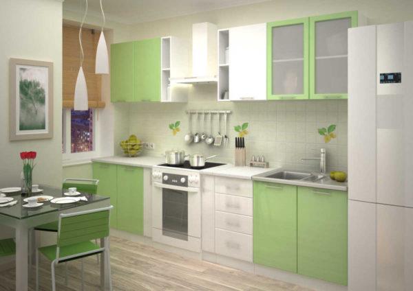 В различных вариациях именно зеленая кухонная мебель и гарнитур в кухонном интерьере смотрятся удачно и свежо.