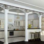зонирование комнаты колонны и арки