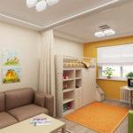 зонирование однокомнатной квартиры идеи дизайна