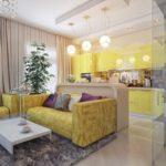 зонирование однокомнатной квартиры декор