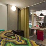 зонирование однокомнатной квартиры фото декор
