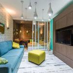 зонирование однокомнатной квартиры декор идеи