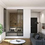 зонирование однокомнатной квартиры идеи декор