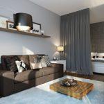 зонирование однокомнатной квартиры идеи декора