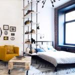 зонирование однокомнатной квартиры оформление идеи