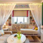 зонирование однокомнатной квартиры идеи варианты