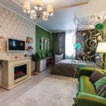 зонирование однокомнатной квартиры виды дизайна