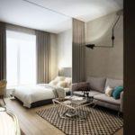 зонирование однокомнатной квартиры дизайн фото