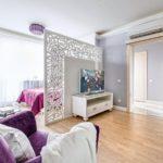 зонирование однокомнатной квартиры фото дизайн