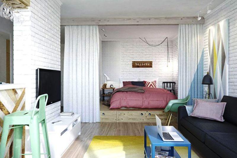 зонирование однокомнатной квартиры правила фото
