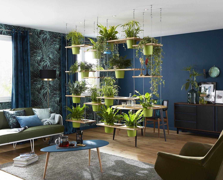 зонирование однокомнатной квартиры студии зеленая ширма