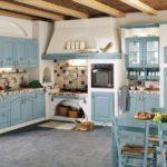 аквамариновая кухня прованс