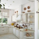 белоснежная кухня прованс