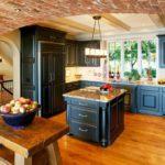 черно-синяя кухня прованс