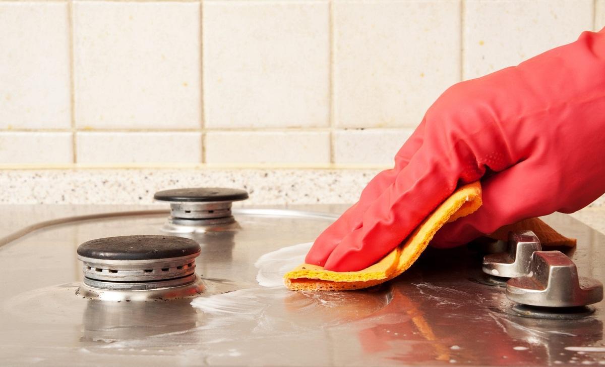 чистка плиты из нержавейки